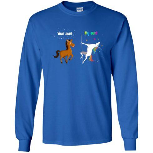 image 967 490x490px My aunt unicorn vs your aunt horse youth t shirt