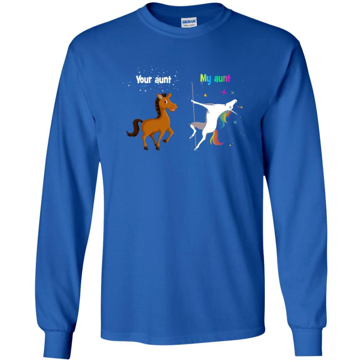 image 967px My aunt unicorn vs your aunt horse youth t shirt