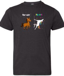 image 968 247x296px My aunt unicorn vs your aunt horse youth t shirt