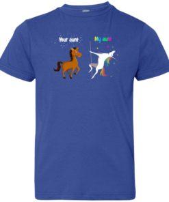 image 969 247x296px My aunt unicorn vs your aunt horse youth t shirt