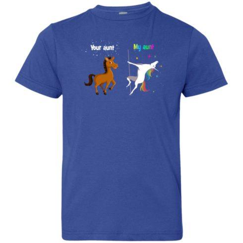 image 969 490x490px My aunt unicorn vs your aunt horse youth t shirt
