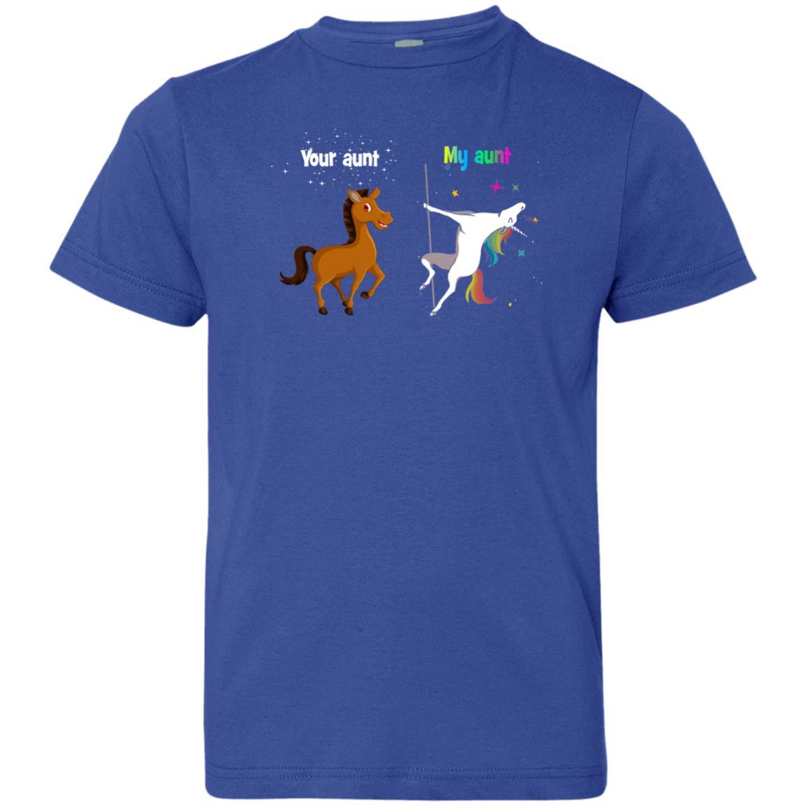 image 969px My aunt unicorn vs your aunt horse youth t shirt