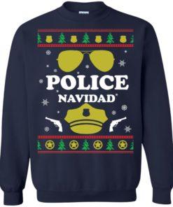 image 97 247x296px Police Navidad Christmas Sweater, Long Sleeve