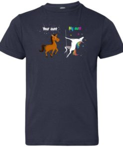image 970 247x296px My aunt unicorn vs your aunt horse youth t shirt