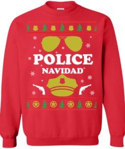 image 98 247x296px Police Navidad Christmas Sweater, Long Sleeve