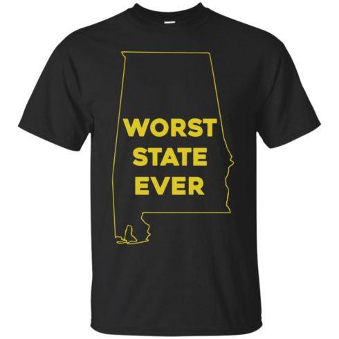 image 985 490x490px Alabama Worst State Ever T Shirts, Hoodies, Tank