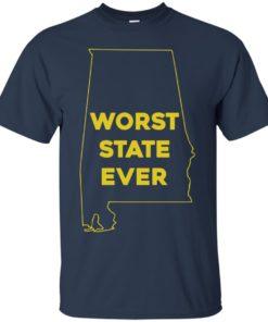 image 986 247x296px Alabama Worst State Ever T Shirts, Hoodies, Tank