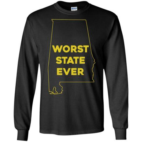 image 989 490x490px Alabama Worst State Ever T Shirts, Hoodies, Tank