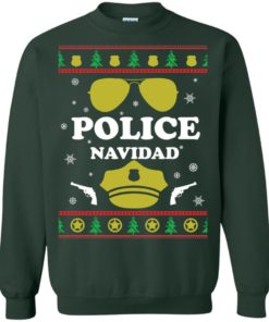 image 99 247x296px Police Navidad Christmas Sweater, Long Sleeve