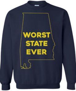 image 994 247x296px Alabama Worst State Ever T Shirts, Hoodies, Tank