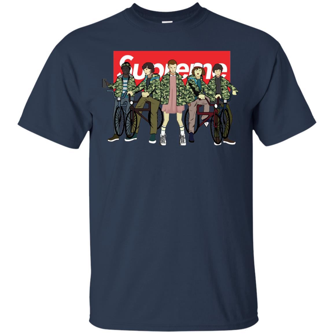 image 28px Stranger Things Supreme All Kids T Shirts, Sweatshirt, Tank Top
