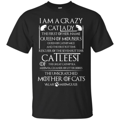 image 59 490x490px Game Of Thrones: I Am A Crazy Cat Lady T Shirts, Tank Top, Sweatshirt