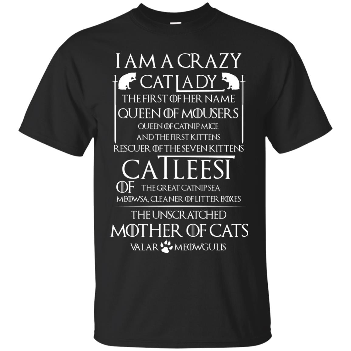 image 59px Game Of Thrones: I Am A Crazy Cat Lady T Shirts, Tank Top, Sweatshirt