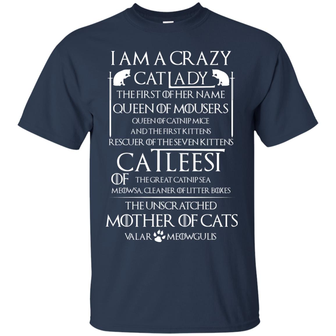 image 60px Game Of Thrones: I Am A Crazy Cat Lady T Shirts, Tank Top, Sweatshirt