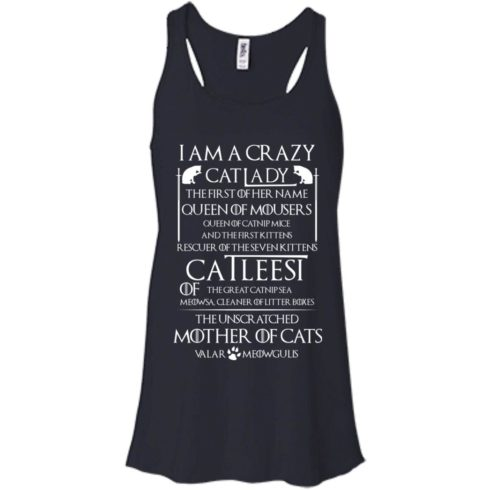 image 62 490x490px Game Of Thrones: I Am A Crazy Cat Lady T Shirts, Tank Top, Sweatshirt