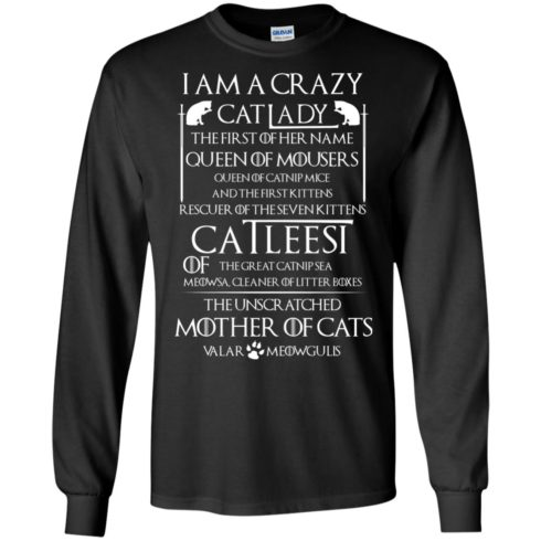 image 63 490x490px Game Of Thrones: I Am A Crazy Cat Lady T Shirts, Tank Top, Sweatshirt