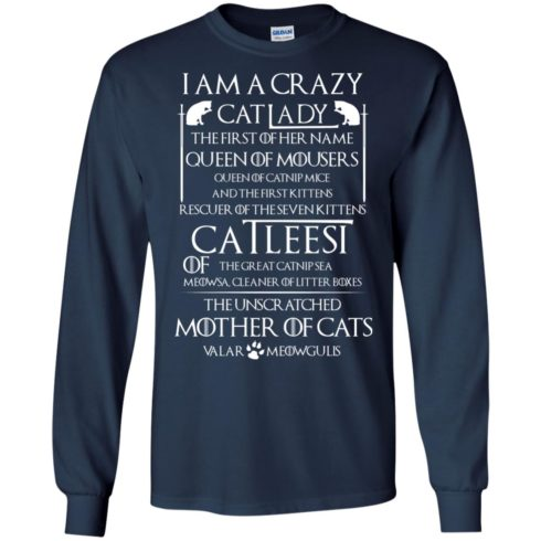 image 64 490x490px Game Of Thrones: I Am A Crazy Cat Lady T Shirts, Tank Top, Sweatshirt