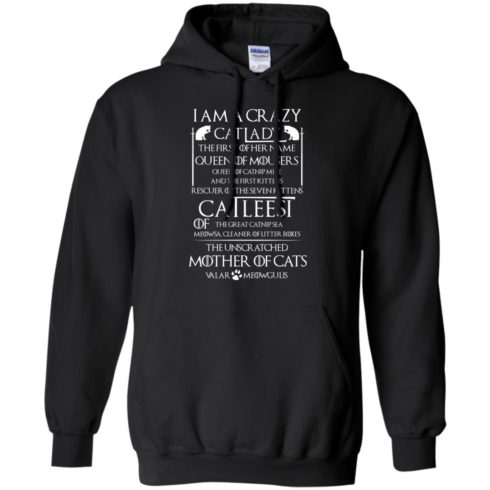 image 65 490x490px Game Of Thrones: I Am A Crazy Cat Lady T Shirts, Tank Top, Sweatshirt