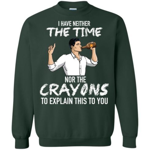 image 98 490x490px Archer: I Have Neither The Time Nor The Crayons To Explain This To You Shirt