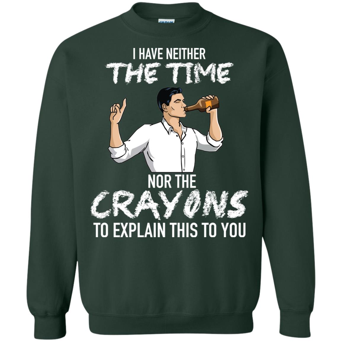 image 98px Archer: I Have Neither The Time Nor The Crayons To Explain This To You Shirt