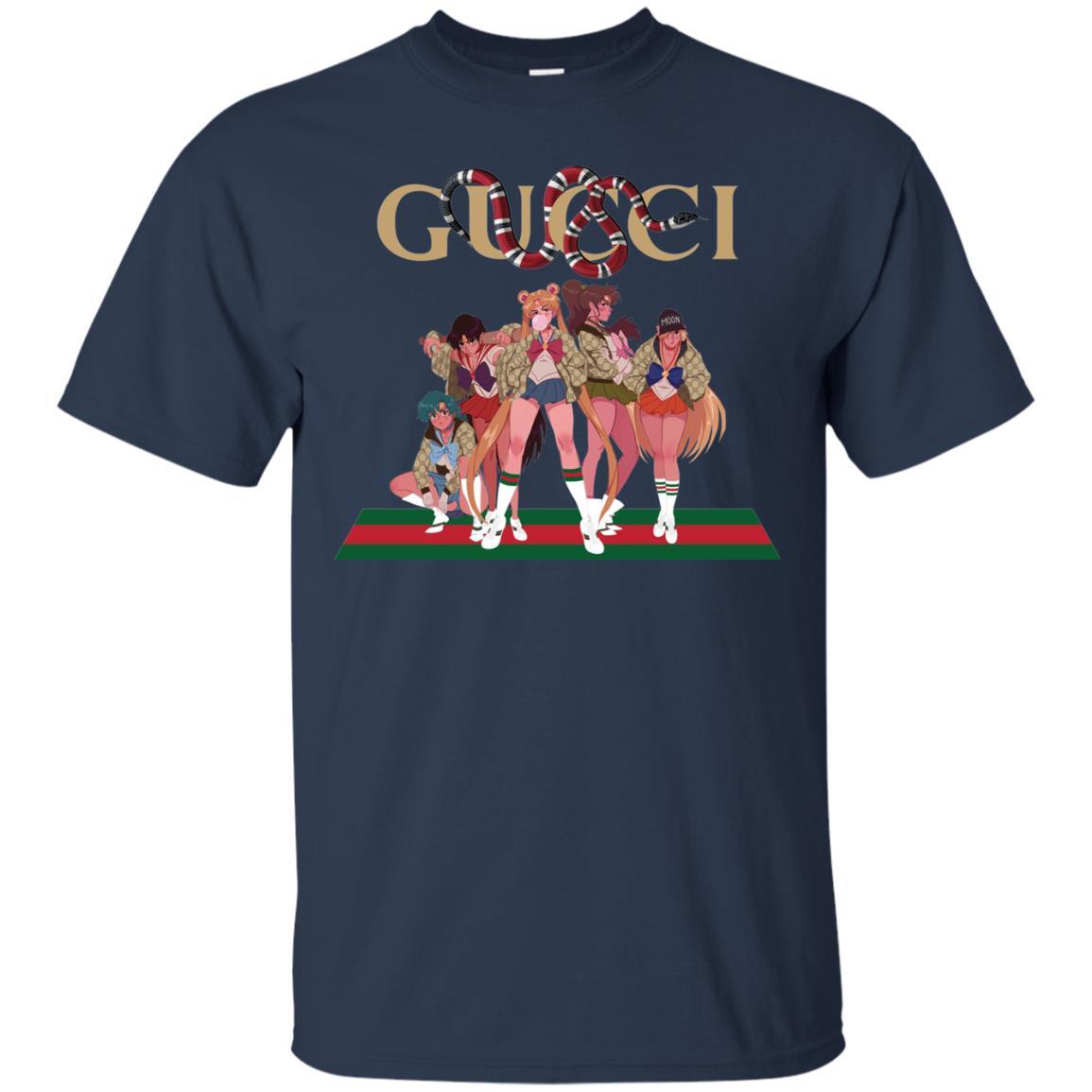 image 108px Gucci Sailor Moon Gang Mashup T Shirts, Hoodies, Tank Top