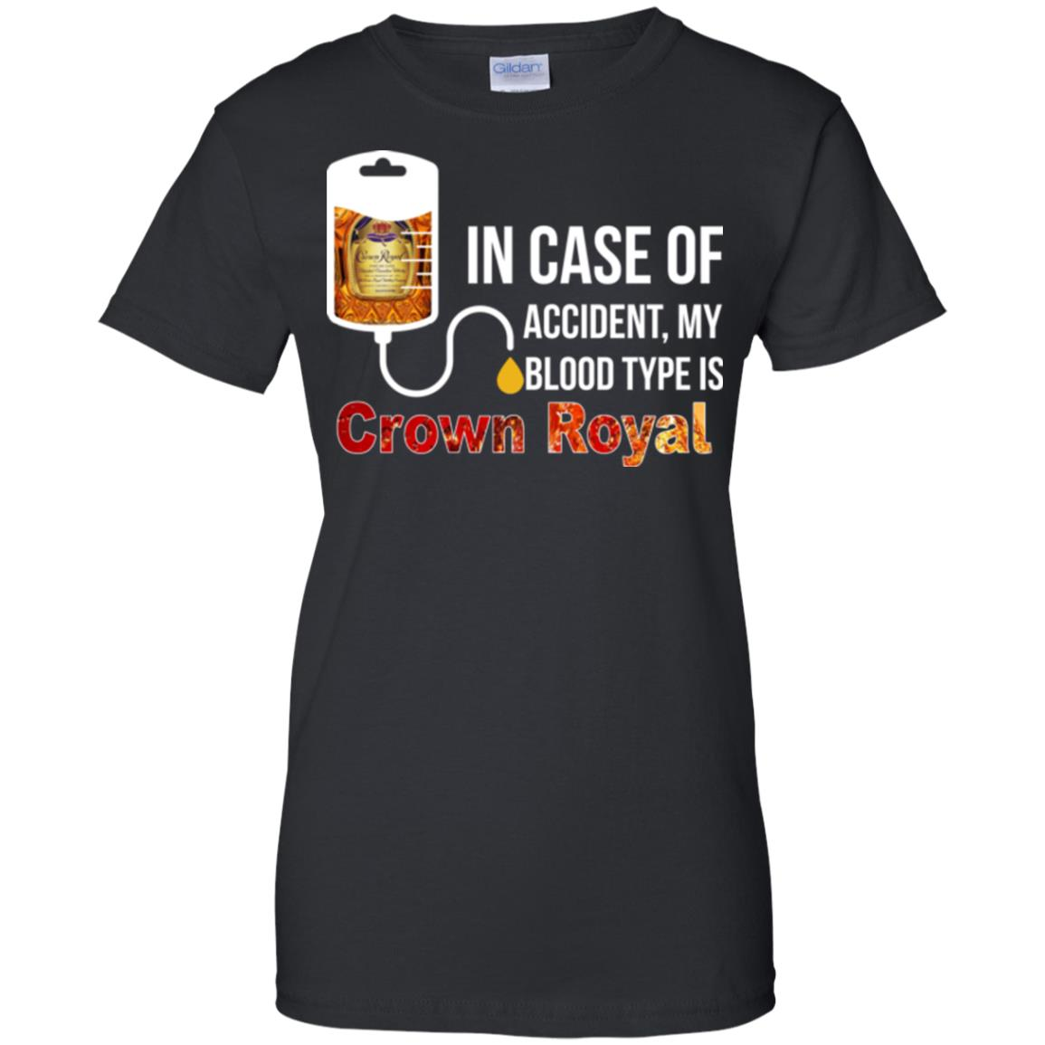 image 165px In Case Of Accident My Blood Type Is Crown Royal T Shirts, Hoodies