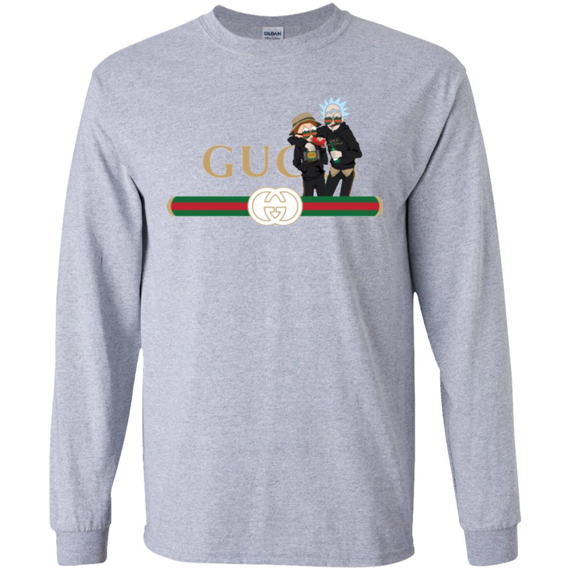 image 217px Rick and Morty Gucci Mashup T shirts, Hoodies, Tank