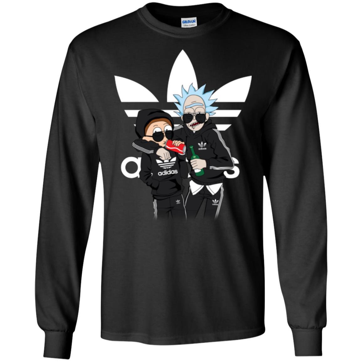 image 288px Rick and Morty Adidas Mashup T Shirt, Hoodies, Tank Top