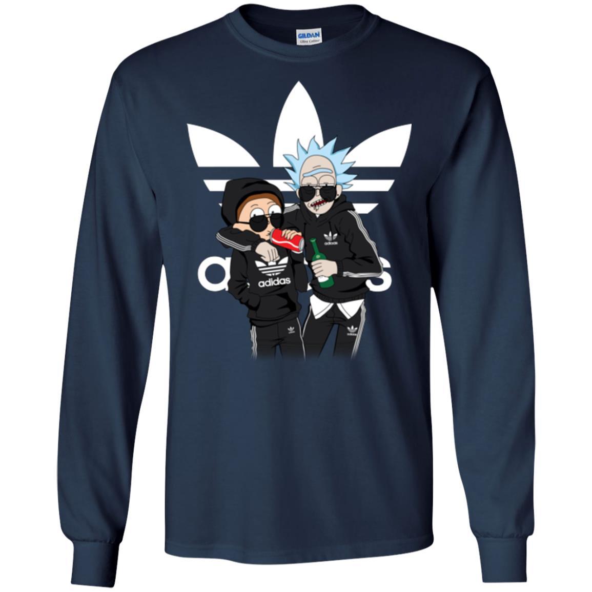 image 289px Rick and Morty Adidas Mashup T Shirt, Hoodies, Tank Top