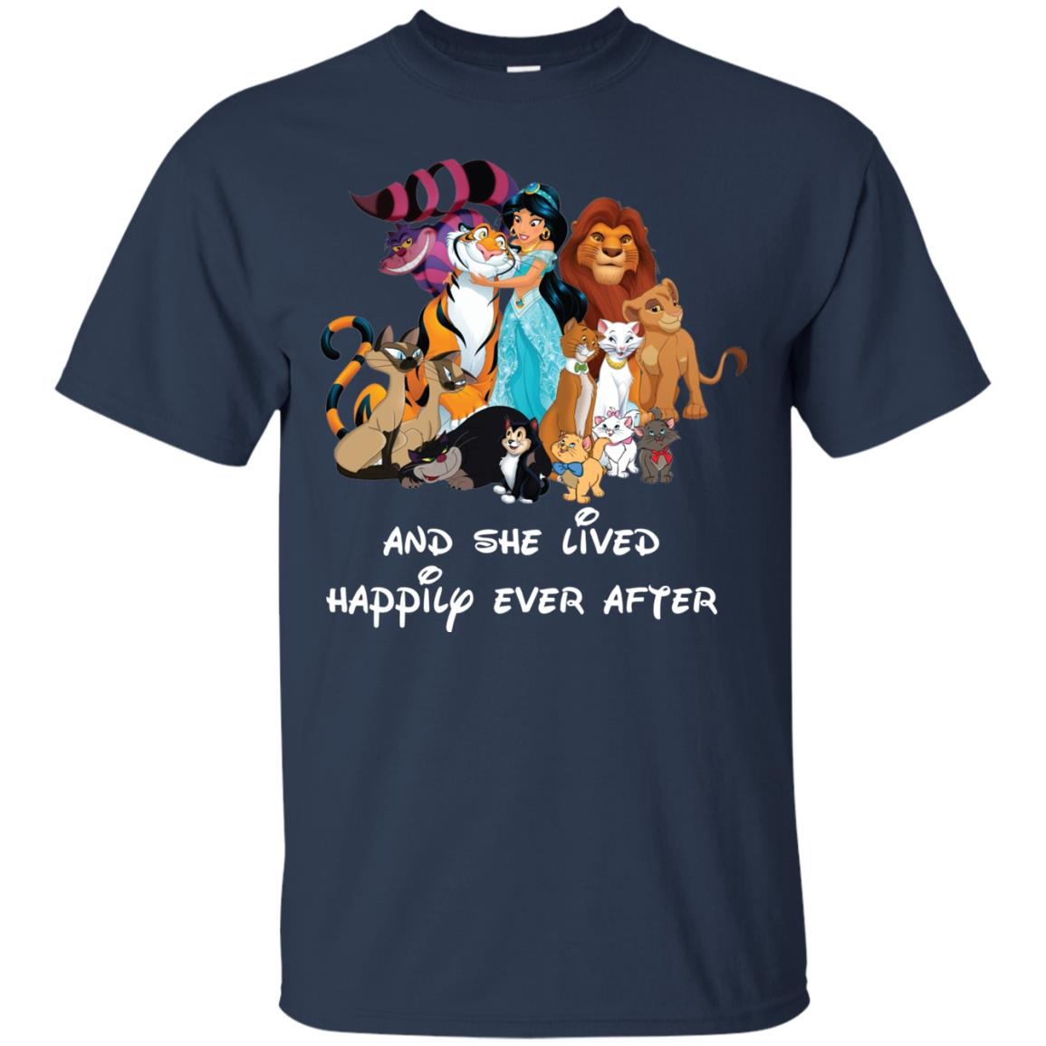 image 49px Disney shirt: And she lived happily ever after t shirt