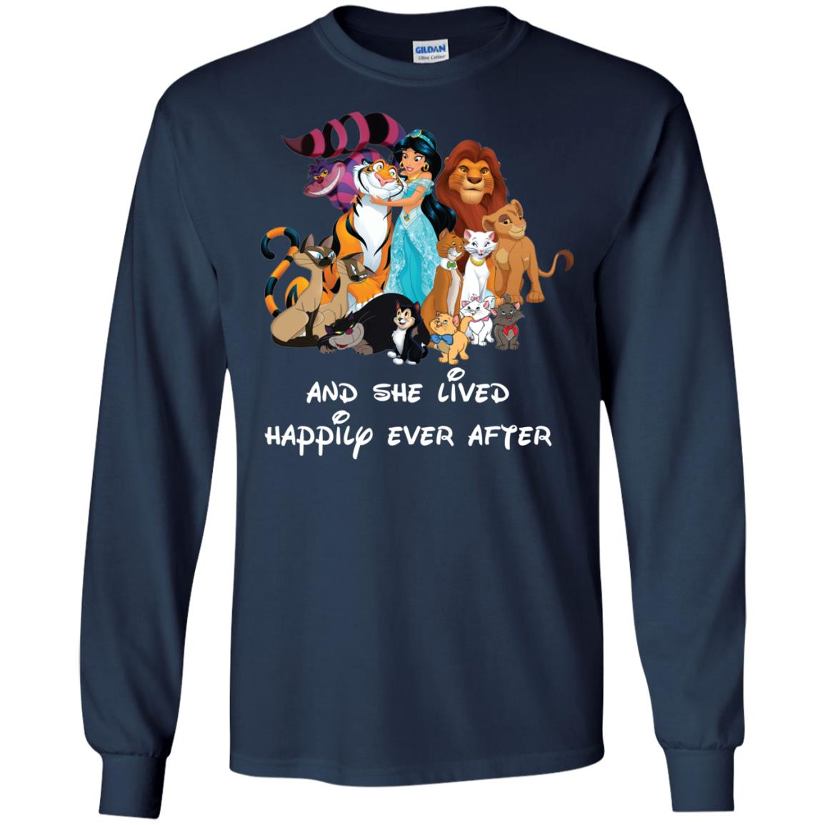 image 53px Disney shirt: And she lived happily ever after t shirt