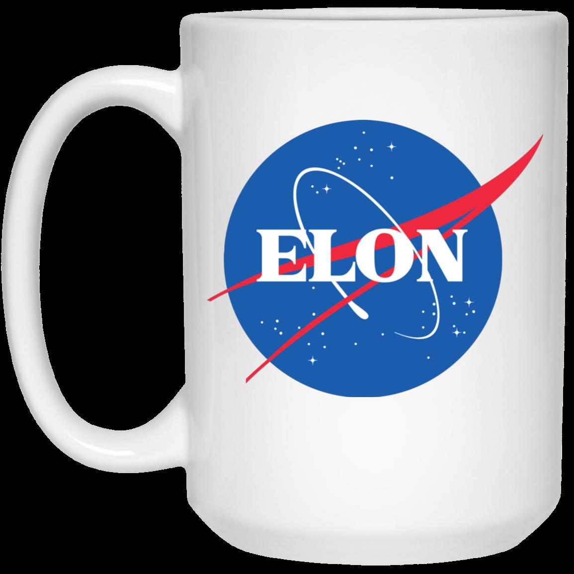image 1px Elon Nasa parody coffee mug