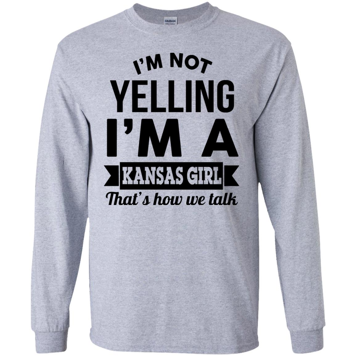 image 175px I'm Not Yelling I'm A Kansas Girl That's How We Talk T Shirts