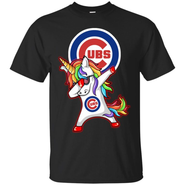 image 375 768x768px Chicago Cubs Unicorn Dabbing T Shirts, Hoodies, Tank Top