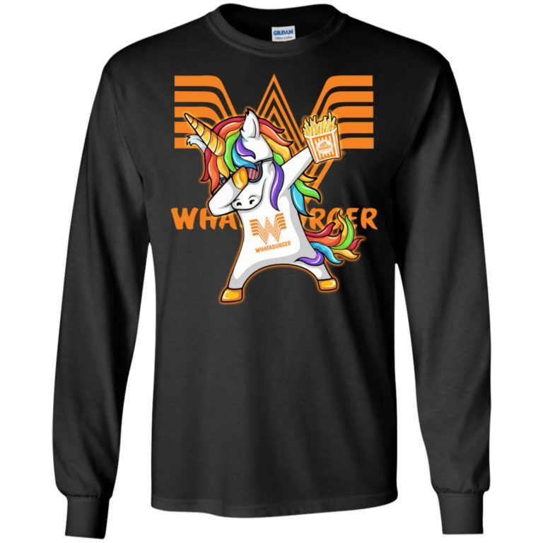image 399 768x768px Unicorn Dabbing Whataburger T Shirts, Hoodies, Tank Top