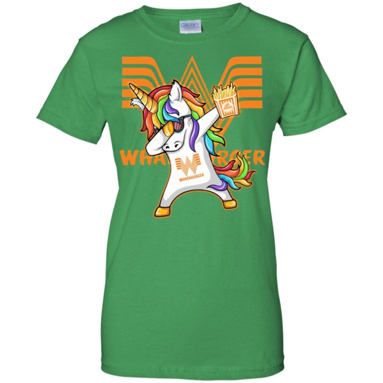 image 406 768x768px Unicorn Dabbing Whataburger T Shirts, Hoodies, Tank Top