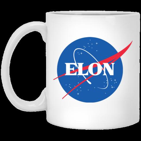 image 490x490px Elon Nasa parody coffee mug