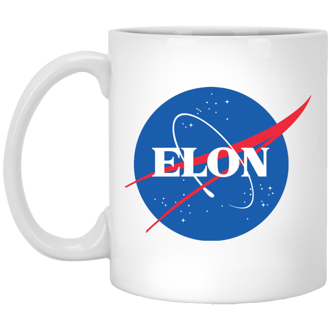 Elon Nasa parody mug