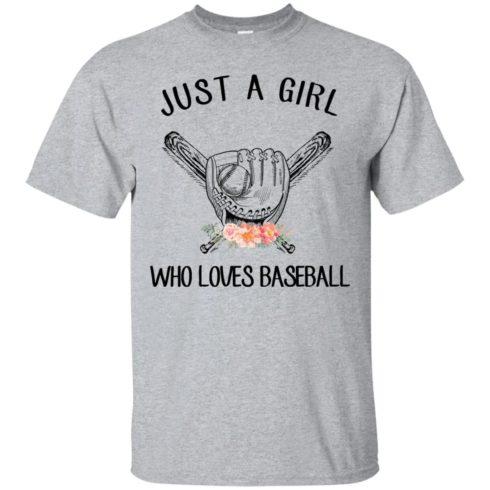 image 131 490x490px Just A Girl Who Loves Baseball T Shirts, Hoodies, Sweatshirt