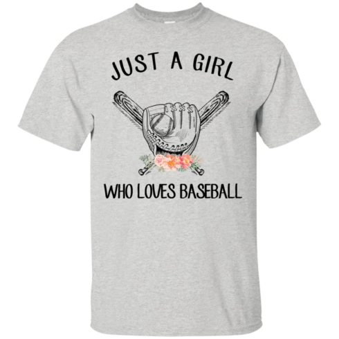 image 132 490x490px Just A Girl Who Loves Baseball T Shirts, Hoodies, Sweatshirt