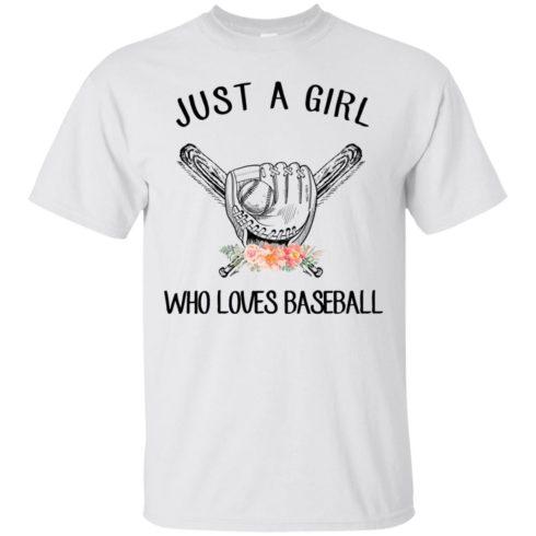 image 133 490x490px Just A Girl Who Loves Baseball T Shirts, Hoodies, Sweatshirt