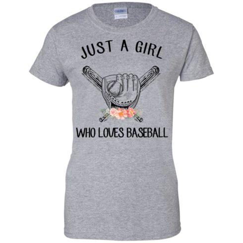 image 140 490x490px Just A Girl Who Loves Baseball T Shirts, Hoodies, Sweatshirt