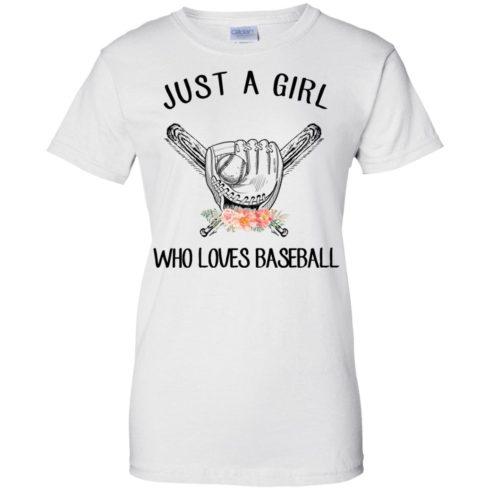 image 141 490x490px Just A Girl Who Loves Baseball T Shirts, Hoodies, Sweatshirt