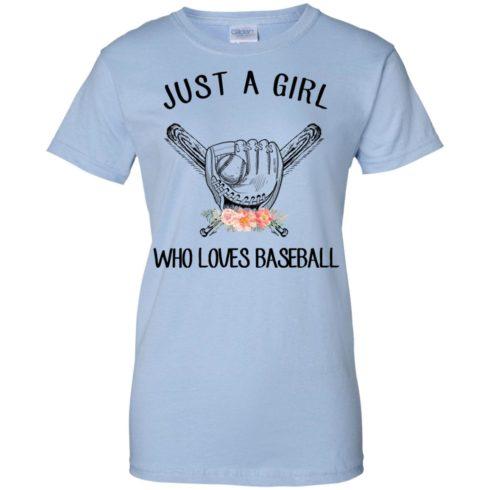 image 142 490x490px Just A Girl Who Loves Baseball T Shirts, Hoodies, Sweatshirt