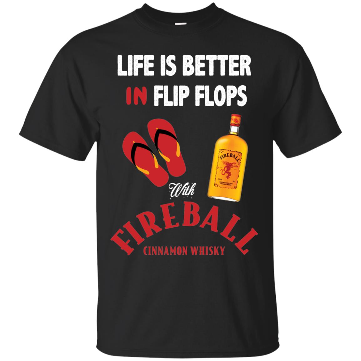 Life Is Better In Flip Flops With Firebal shirt