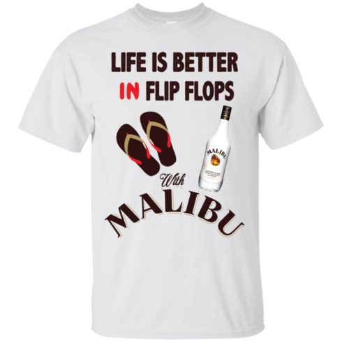 image 209 490x490px Life Is Better In Flip Flops With Malibu Rum T Shirts, Hoodies, Tank Top