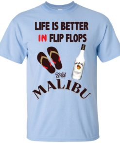 image 210 247x296px Life Is Better In Flip Flops With Malibu Rum T Shirts, Hoodies, Tank Top