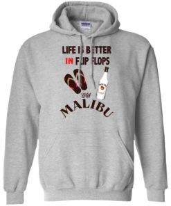 image 211 247x296px Life Is Better In Flip Flops With Malibu Rum T Shirts, Hoodies, Tank Top