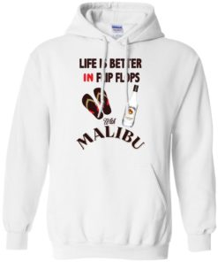 image 212 247x296px Life Is Better In Flip Flops With Malibu Rum T Shirts, Hoodies, Tank Top