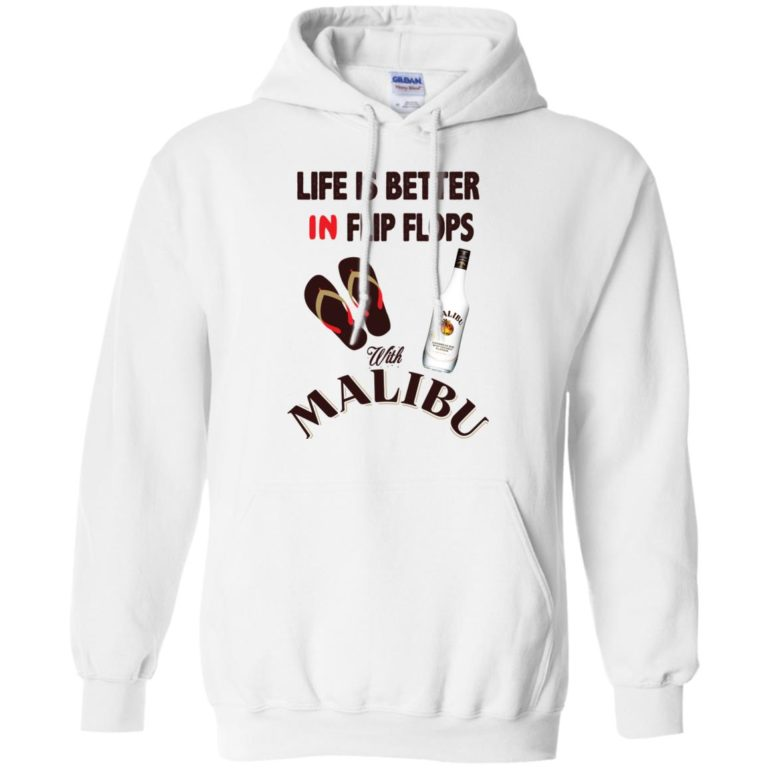 image 212 768x768px Life Is Better In Flip Flops With Malibu Rum T Shirts, Hoodies, Tank Top
